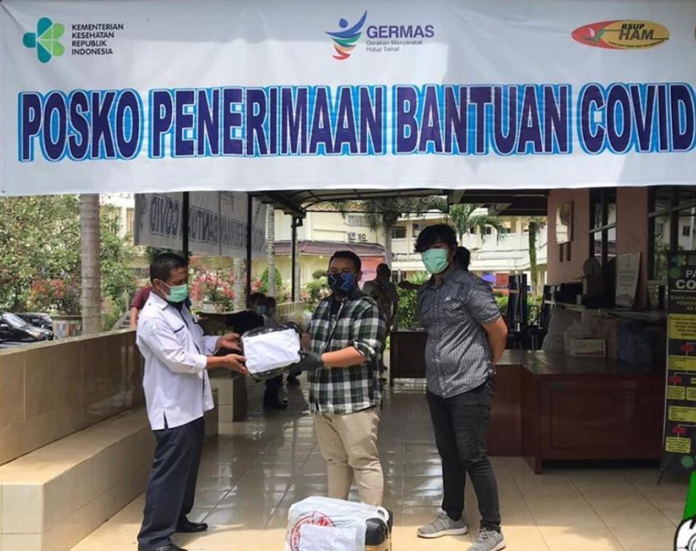 HMI Komisariat FKG USU, Salurkan APD ke RS dan Bagikan Sembako ke Masyarakat