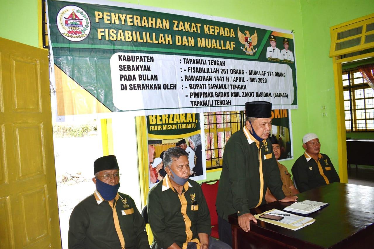 BAZNAS Salurkan Zakat Di 18 Kecamatan, Bupati Tapteng Salurkan Zakat Harta Di 2 Kecamatan
