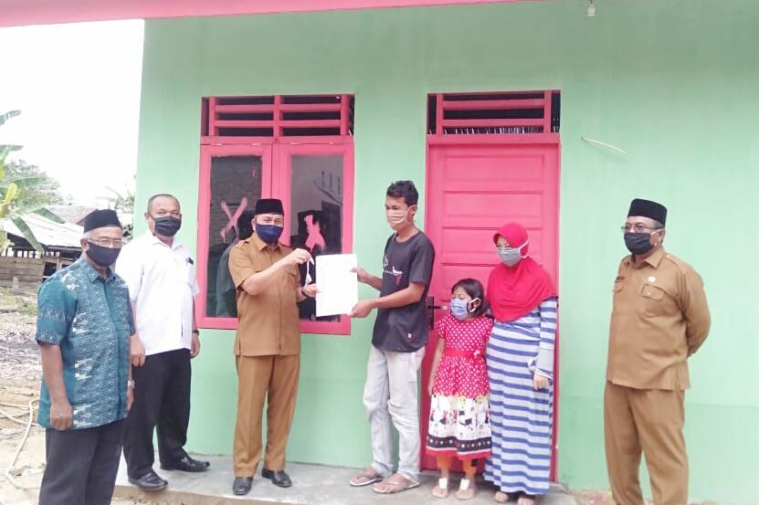 Baitul Mal Langsa, Salurkan Rumah Layak Huni kepada Anak Yatim Piatu
