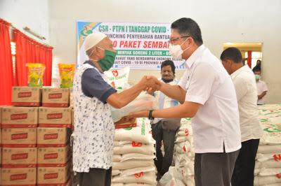 PTPN I, Salurkan Paket Sembako kepada Masyarakat Kurang Mampu