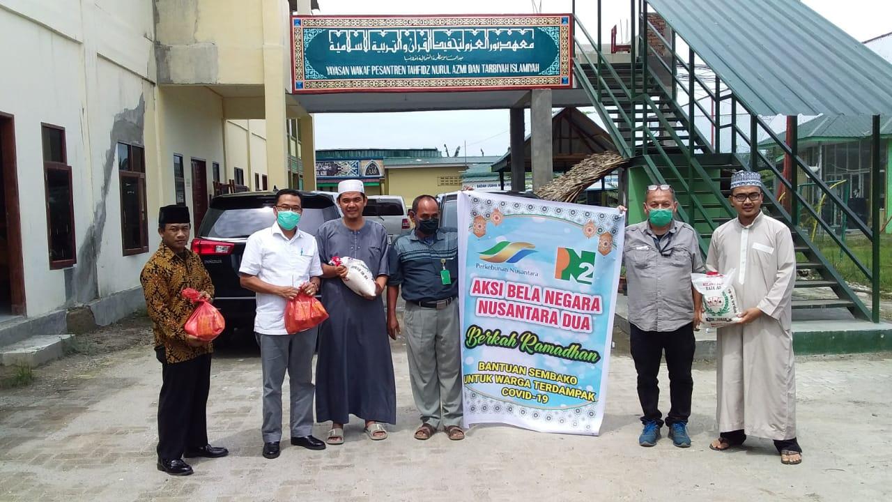PTPN II, Salurkan Bansos Paket Sembako ke Pondok Pesantren Tahfidzul Qur'an Nurul Azmi