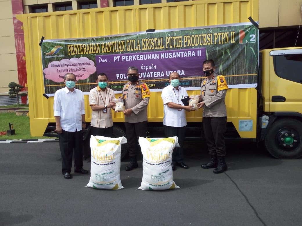 PTPN II dan Polda Sumut Kerjasama Salurkan CSR