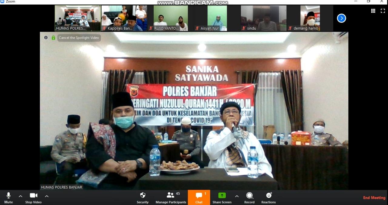 Polres Banjar, Peringati Nuzulul Quran Melalui Video Conference