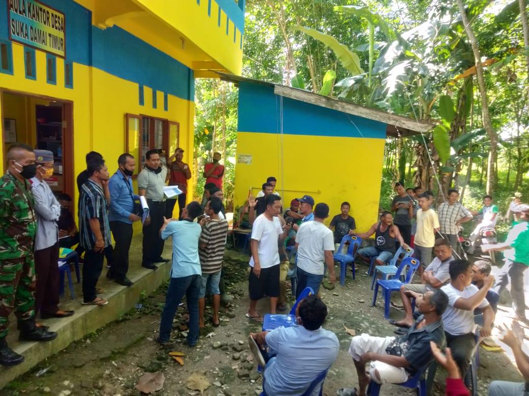Warga Desa Suka Damai Timur Langkat, Tuntut BLT Dana Desa