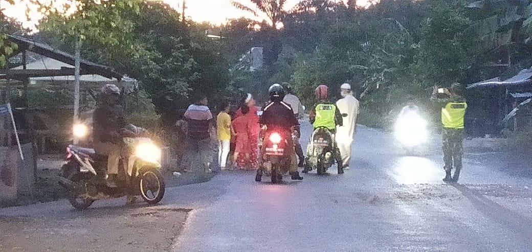 Polsek Bangun Purba, Lakukan Patroli Asmara Subuh Antisipasi Covid-19