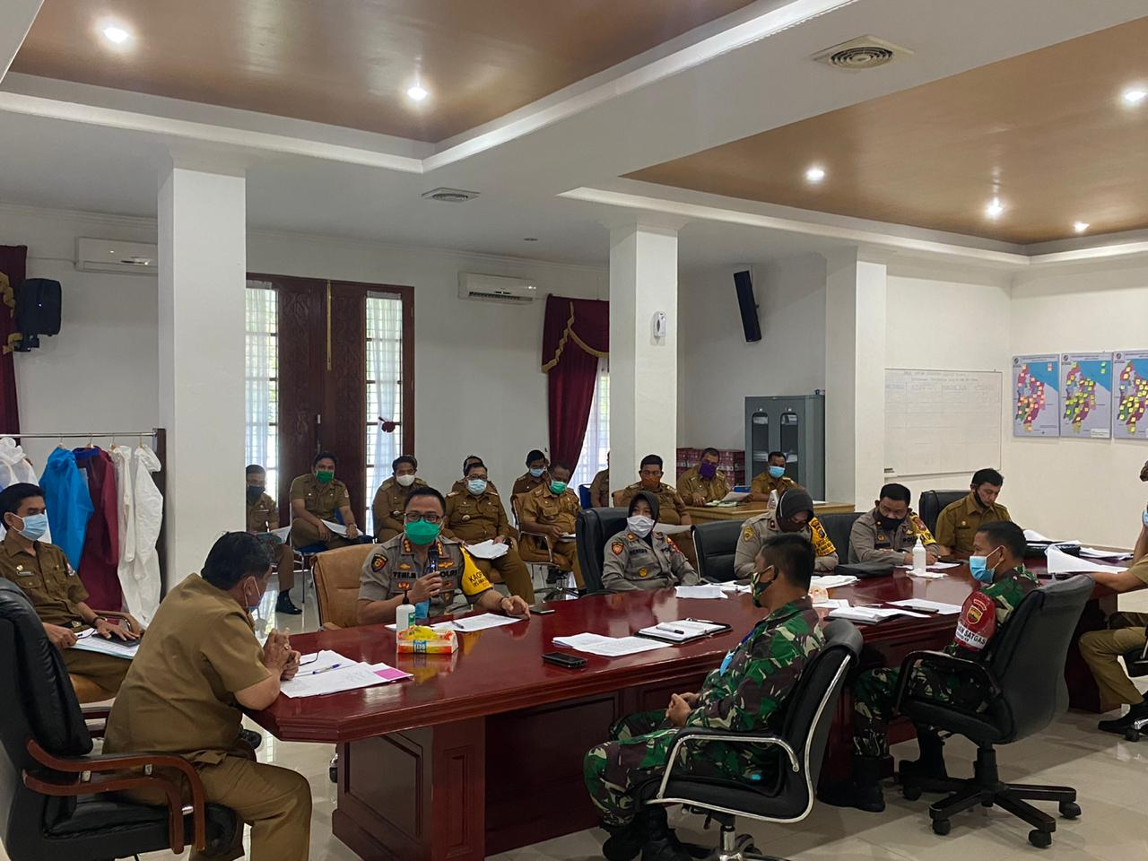 Kapolresta Deli Serdang, Hadiri Rapat Koordinasi Penyaluran Bansos Pemkab Deli Serdang