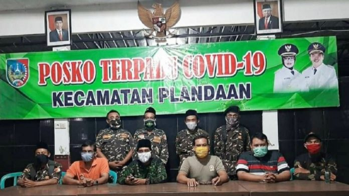 Ansor-Banser Jombang Terlibat Aktif Jaga Posko Covid-19