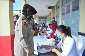 HUT Bhayangkara ke-74, SPN Hinai Polda Sumut Bangun Masjid Secara Swadaya