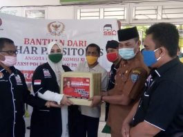 Komisi XI DPR-RI Fraksi PDI-Perjuangan, Sihar Sitorus Berikan Bantuan 250 Rapid Tes ke Dinkes Labuhanbatu