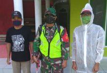 Koramil Pamarican, Semprot Cairan Disinfektan di Masjid dan Sekolah