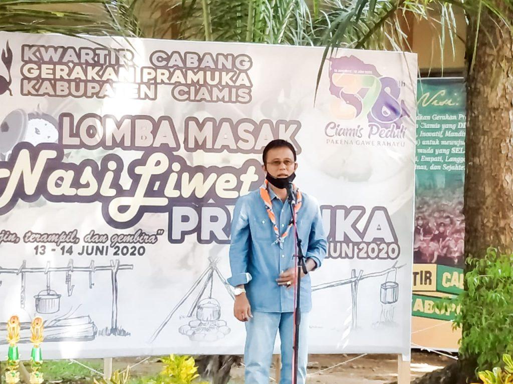 New Normal di Ciamis, Herdiat Ajak Pramuka Sosialisasi kepada Masyarakat (2)
