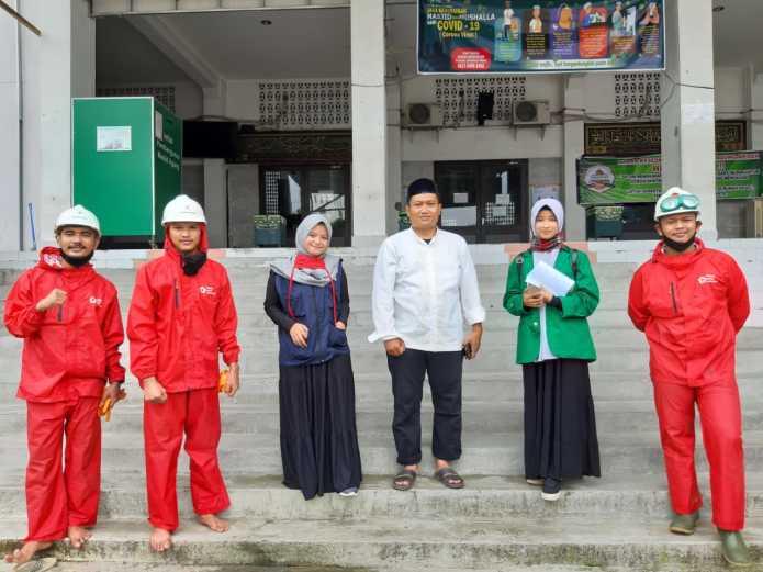 Masjid Agung Medan, Disemprot Disinfektan oleh PMI dan ICMI