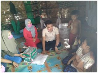 Pengurus Besar Suara Mahasiswa Batu Bara Salurkan Bantuan Paket Sembako