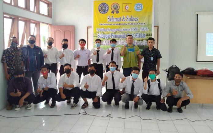 Dosen Fakultas Teknik UMSU, Gelar Pelatihan Penggunaan Sensor Penunjuk Arah Kiblat