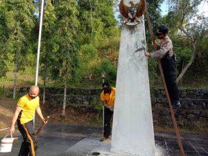 Jelang Hari Bhayangkara ke-74, Polres Banjar Laksanakan Baksos di TPU Banjar