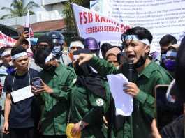 Demo di Kuala Tanjung, Massa Aksi Tuding Nurani PT Inalum Telah Mati