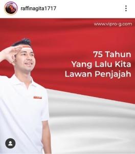 Artis Luna Maya, Hana Hanafiah, Nikita Mirzani Hingga Raffi Ahmad Beri Ucapan Selamat Dirgahayu Indonesia (4)