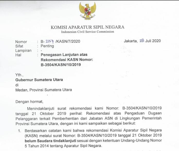 Gubernur Edy Rahmayadi, Diam Seribu Bahasa Terkait Penegasan Rekom KASN