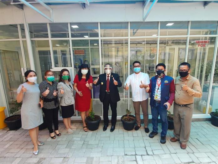 Gubernur Sumut Edy Rahmayadi, Tinjau LAB PCR RSU Bunda Thamrin