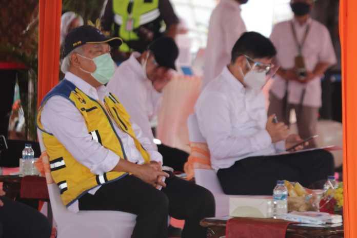 Menteri PUPR, Letakan Batu Pertama (Groundbreaking) Jalan Akses Non Tol Bandara International Jawa Barat