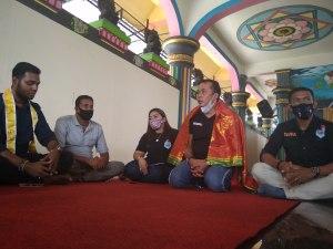 Aulia Rahcman Silaturahmi ke Tokoh Hindu Medan, Ini Harapan Masyarakat Hindu ke Bobby-Aulia