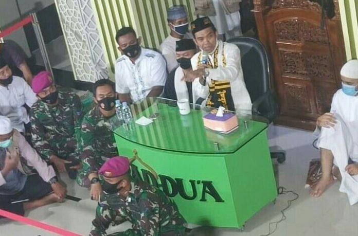 Ustaz Abdul Somad, Dijaga TNI saat Ceramah di Lampung