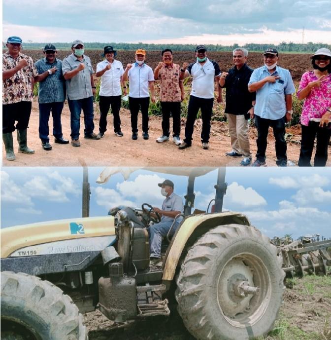 Produksi Gula Nasional, Kebun Kwala Bingei PTPN 2 Gelar Pembersihan Lahan Guna Tanam Tebu