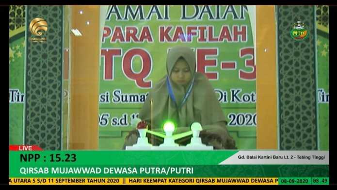 Mahasiswa STIT Ar Raudhah Juara di MTQ Sumatera Utara ke 37