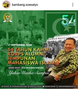 Milad ke-54, Ketua MPR RI Ungkapkan Banyak Tokoh Nasional yang Berintegritas Lahir Dari KAHMI