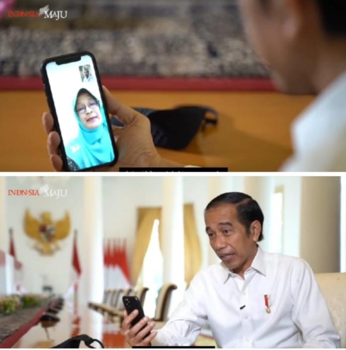 Momen Presiden Jokowi, Video Call dengan Guru SMP Negeri 7 Padang