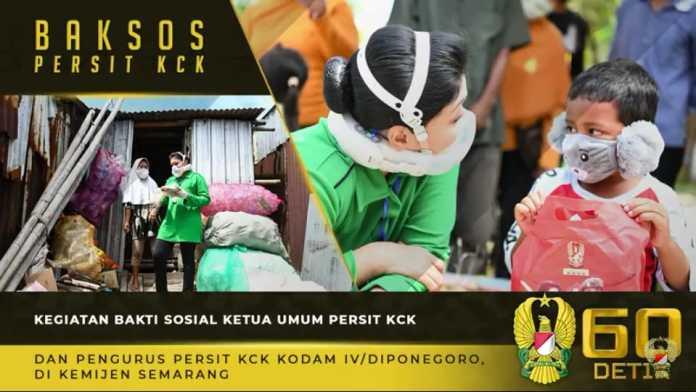 Ketum Persit KCK, Lakukan Bakti Sosial di Kemijen Semarang