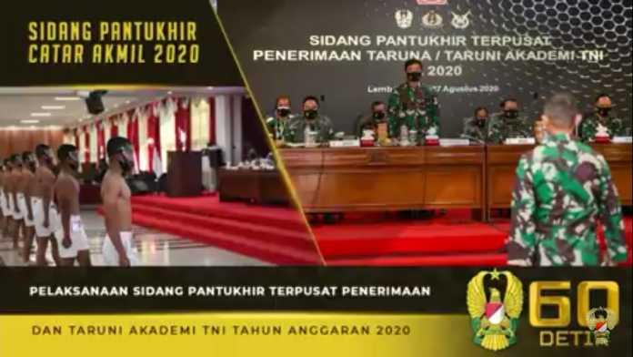 Sidang Pantukhir Terpusat Penerimaan Taruna dan Taruni Akademi TNI TA. 2020