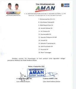 Tim Pemenangan Akhyar Nasution dan Salman Alfarisi