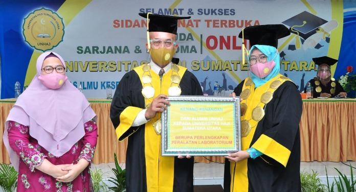 737 Lulusan Universitas Haji Sumatera Utara di Wisuda Secara Daring