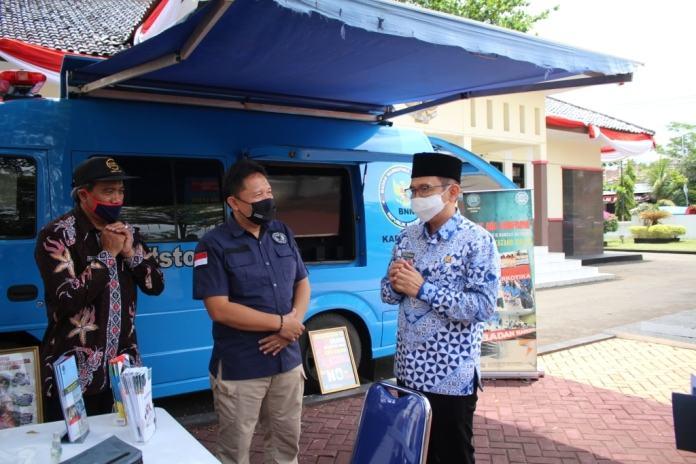 "BNN Ciamis, Laksanakan Launching Layanan ""Si Biru Mobile"