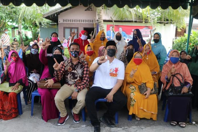 Bobby Nasution ke Helvetia Timur, Disambut Sholawat oleh Ibu-Ibu Perwiritan