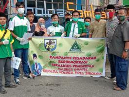 PC GP ANSOR dan DPD KNPI Kota Sibolga Gelar Kampanye Kesadaran Berdemokrasi