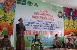IPNU-IPPNU, Bersama Ponpes NU Deli Serdang Peringati Hari Santri Nasional 2020