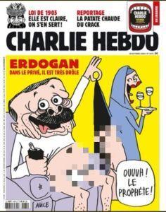 Majalah Charlie Hebdo Unggah Karikatur Erdogan Cabul, Lihat Gambarnya!