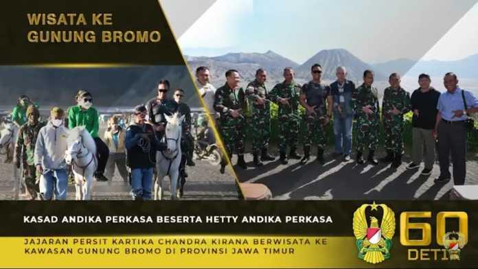 Kasad Andika Perkasa, dan Ketum Persit KCK Berwisata ke Gunung Bromo