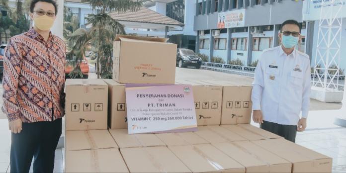 Bupati Ciamis, Terima Donasi 360 Ribu Tablet Vitamin C dari PT Triman