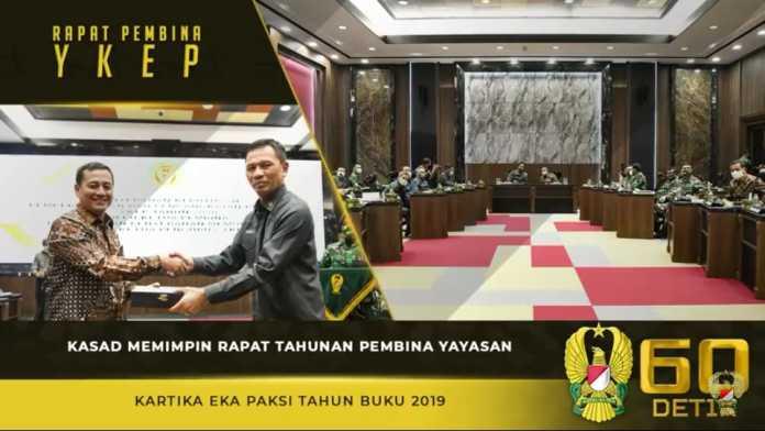 Kasad Andika Perkasa, Memimpin Rapat Tahunan Pembina Yayasan Kartika Eka Paksi Tahun Buku 2019