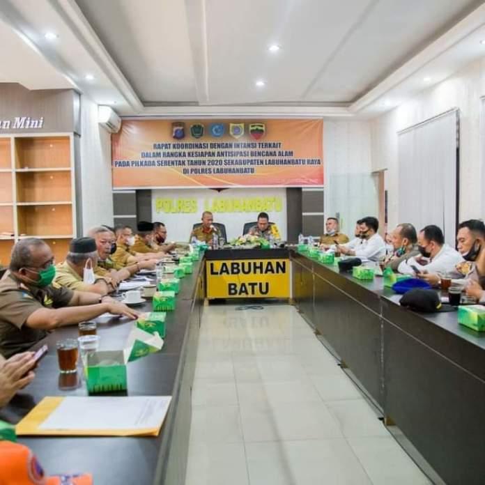 Forkopimda Labuhanbatu, Gelar Rapat Koordinasi Antisipasi Bencana Alam Pilkada