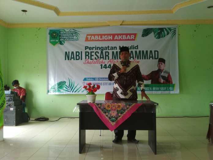 STIT Ar Raudhah Gelar Peringatan Maulid Nabi Muhammad SAW 1442 H