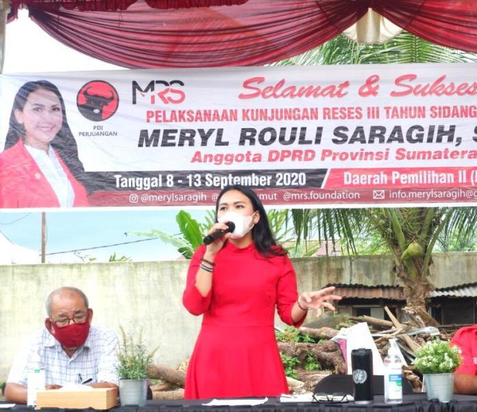 Suara Milenial Menentukan, Meryl R Saragih Himbau Anak Muda Gunakan Hak Pilihnya