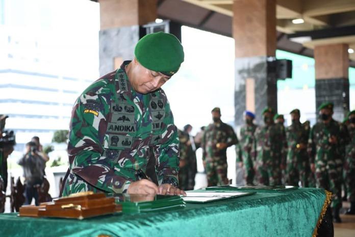 Kasad Andika Perkasa, Rotasi Pimpinan Jabatan dan Terima Laporan Kenaikan Pangkat Pati TNI AD
