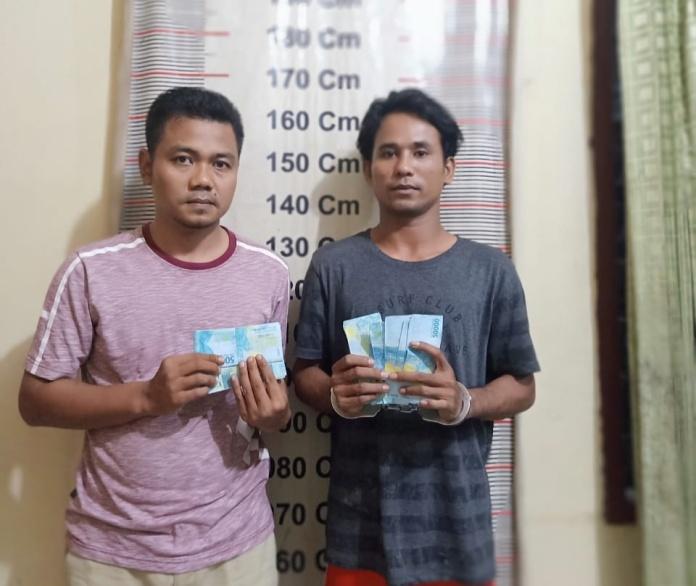 Uang Palsu Beredar di Langkat, Polisi Tangkap 2 Pria