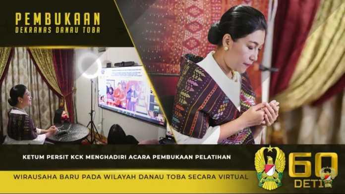 Ketua Umum Persit KCK, Hadiri Pembukaan Pelatihan Wirausaha Baru secara Virtual