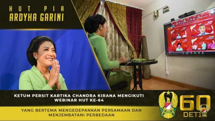 Ketua Umum Persit KCK, Mengikuti Webinar HUT Ke-64 PIA Ardhya Garini