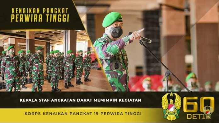 Kasad Andika Perkasa, Pimpin Kegiatan Korps Kenaikan Pangkat 19 Perwira Tinggi TNI AD
